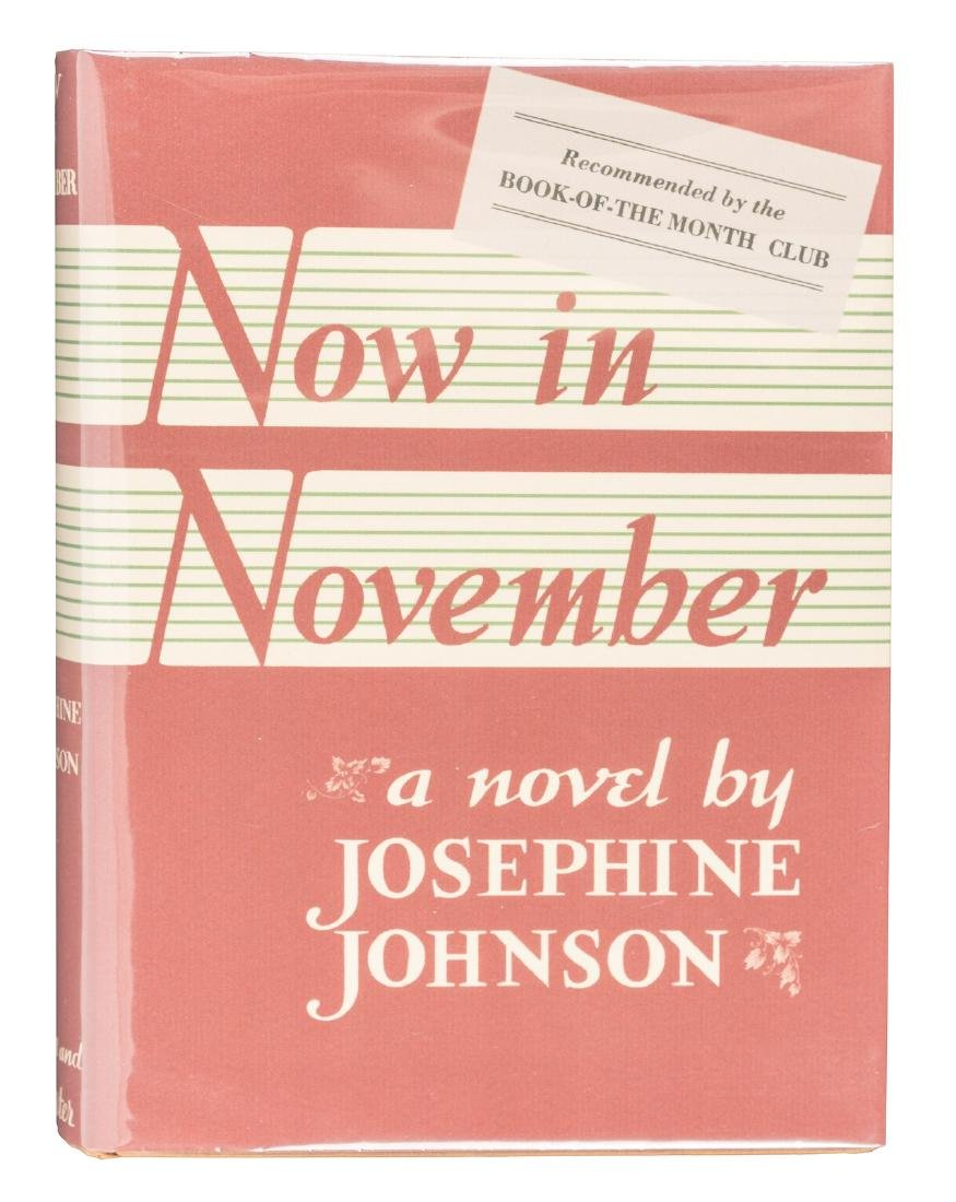 Now in November Pulitzer winning first novel
