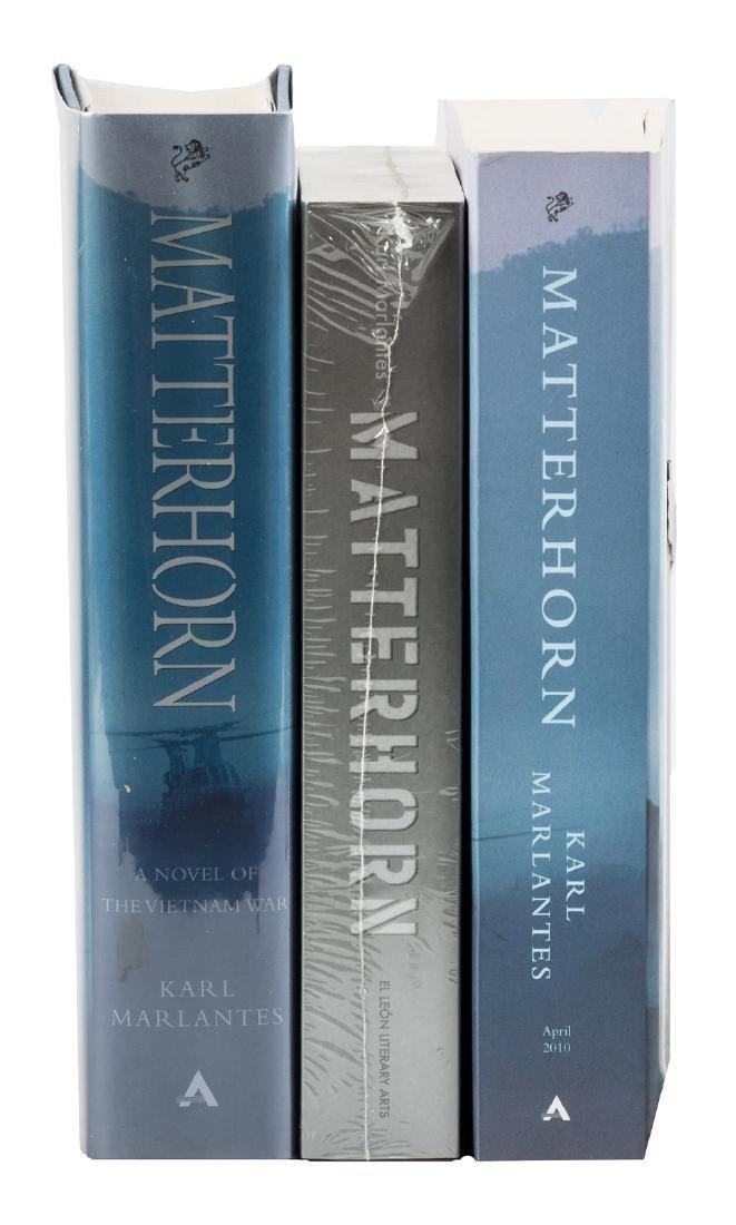 Marlantes, Matterhorn - 3 signed editions