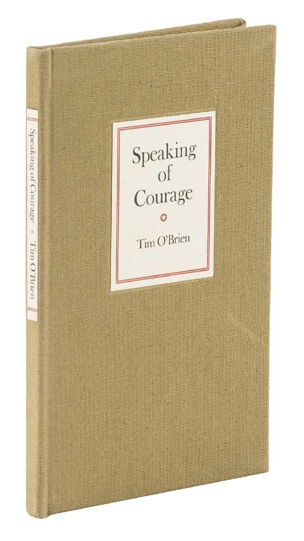 Tim O'Brien, Speaking of Courage signed limited