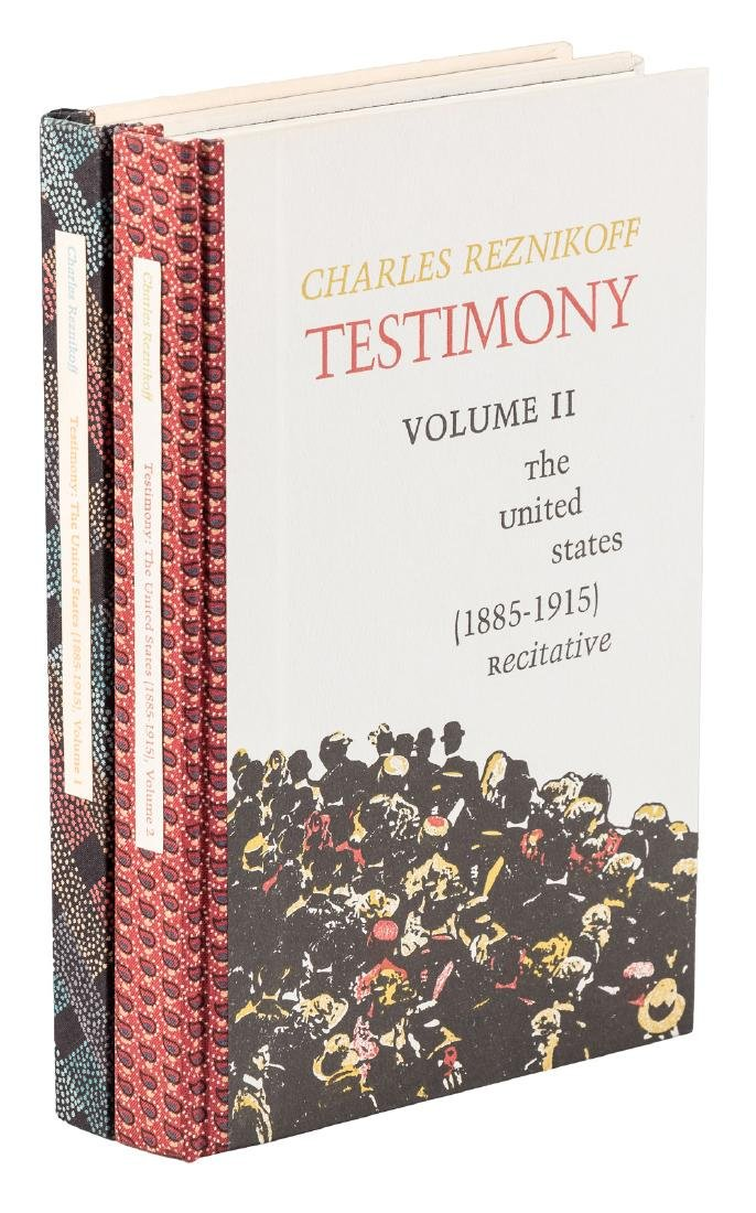 Charles Reznikoff Testimony 1 of 100 copies