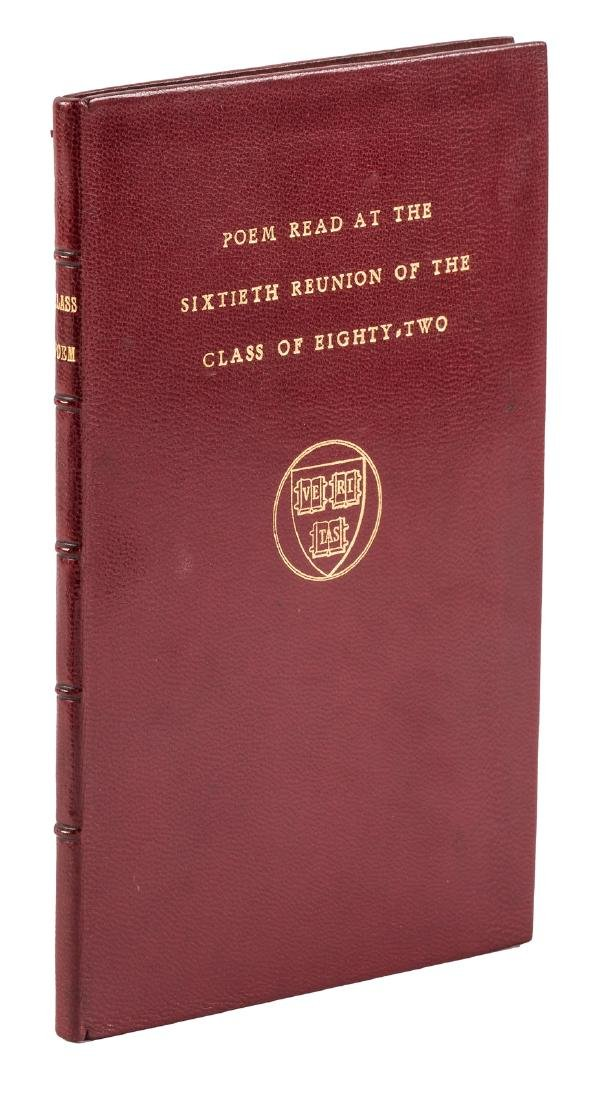 Henry Dwight Sedgwick, finely bound Harvard poem