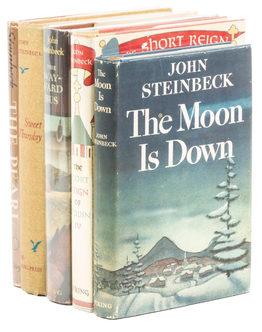 Five novels by John Steinbeck