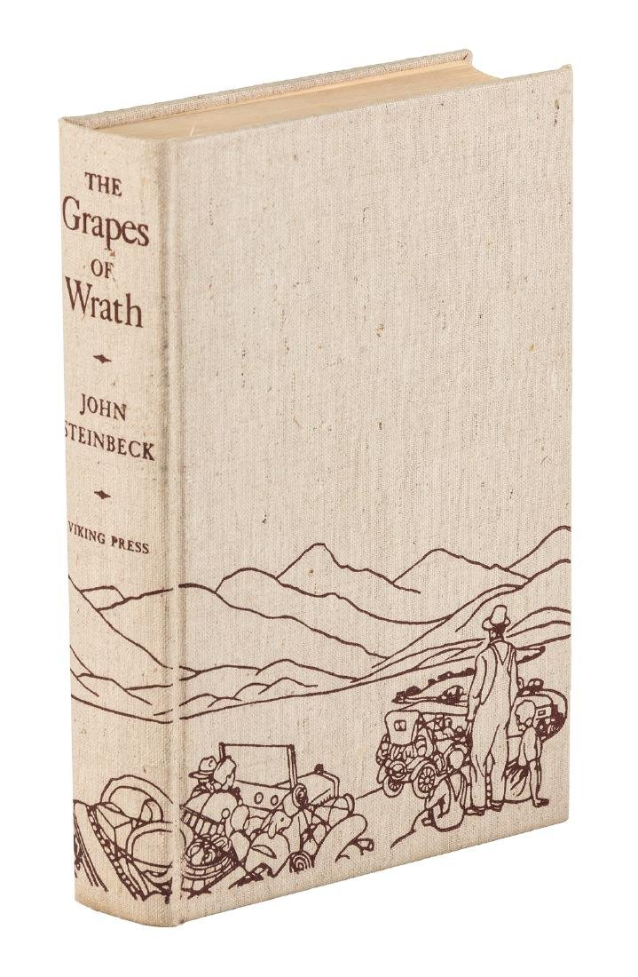 Steinbeck's Grapes of Wrath in jacket - 2