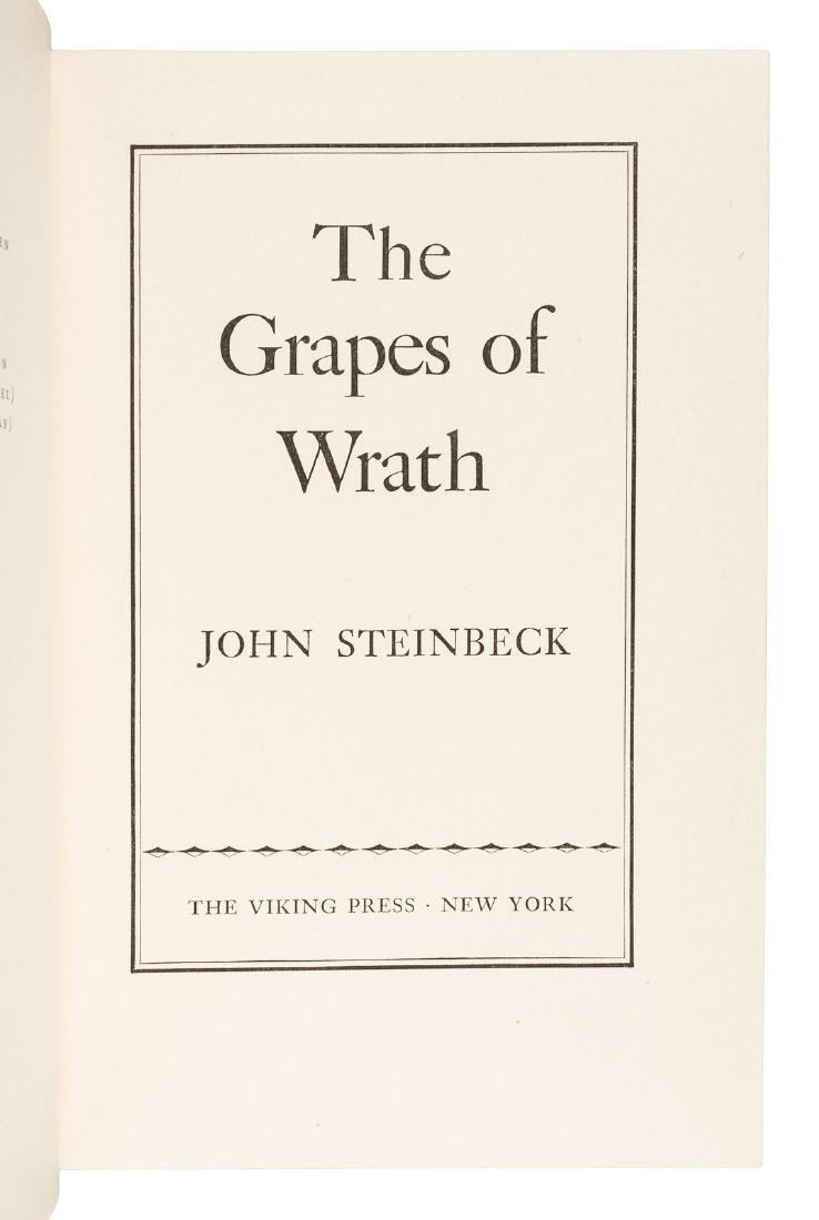 Steinbeck's Grapes of Wrath in jacket - 3