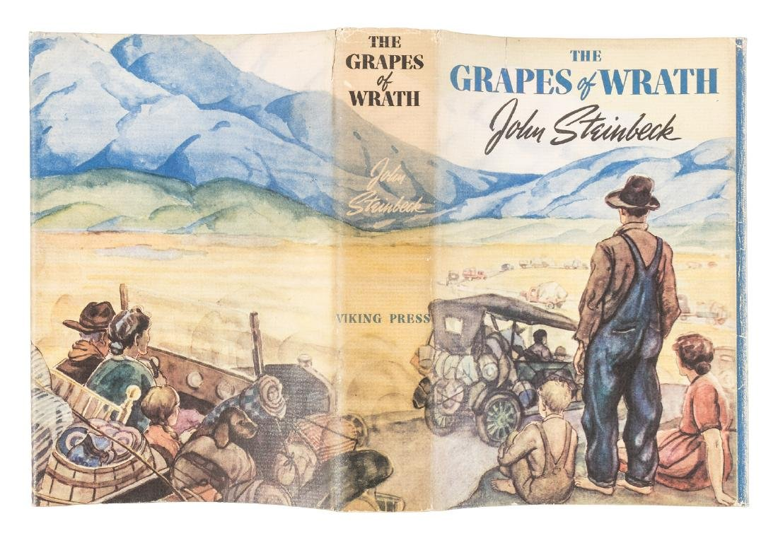 Steinbeck's Grapes of Wrath in jacket - 5