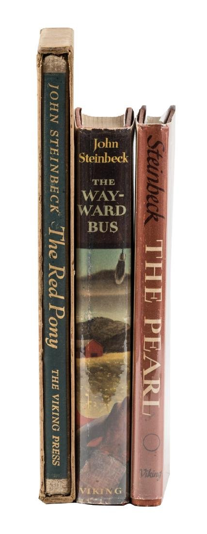 Three first editions by John Steinbeck
