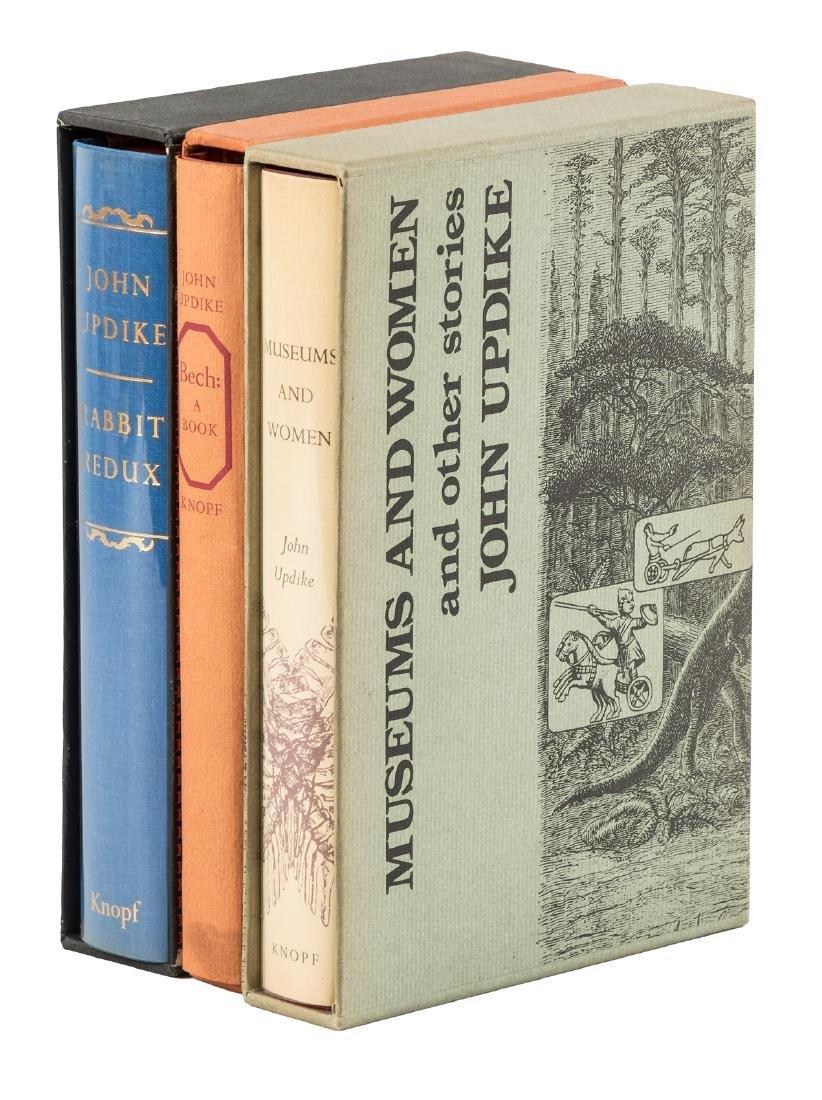 John Updike, 3 signed limited 1st eds.