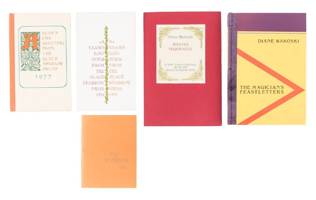 Five Dianne Wakoski first editions
