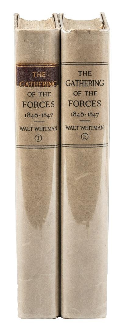 Walt Whitman's Gathering of the Forces 2 vols 1920