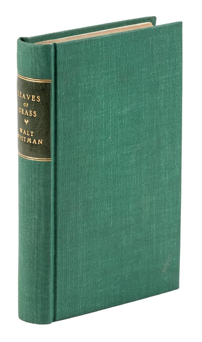 Walt Whitman Leaves of Grass Author's Edition Signed