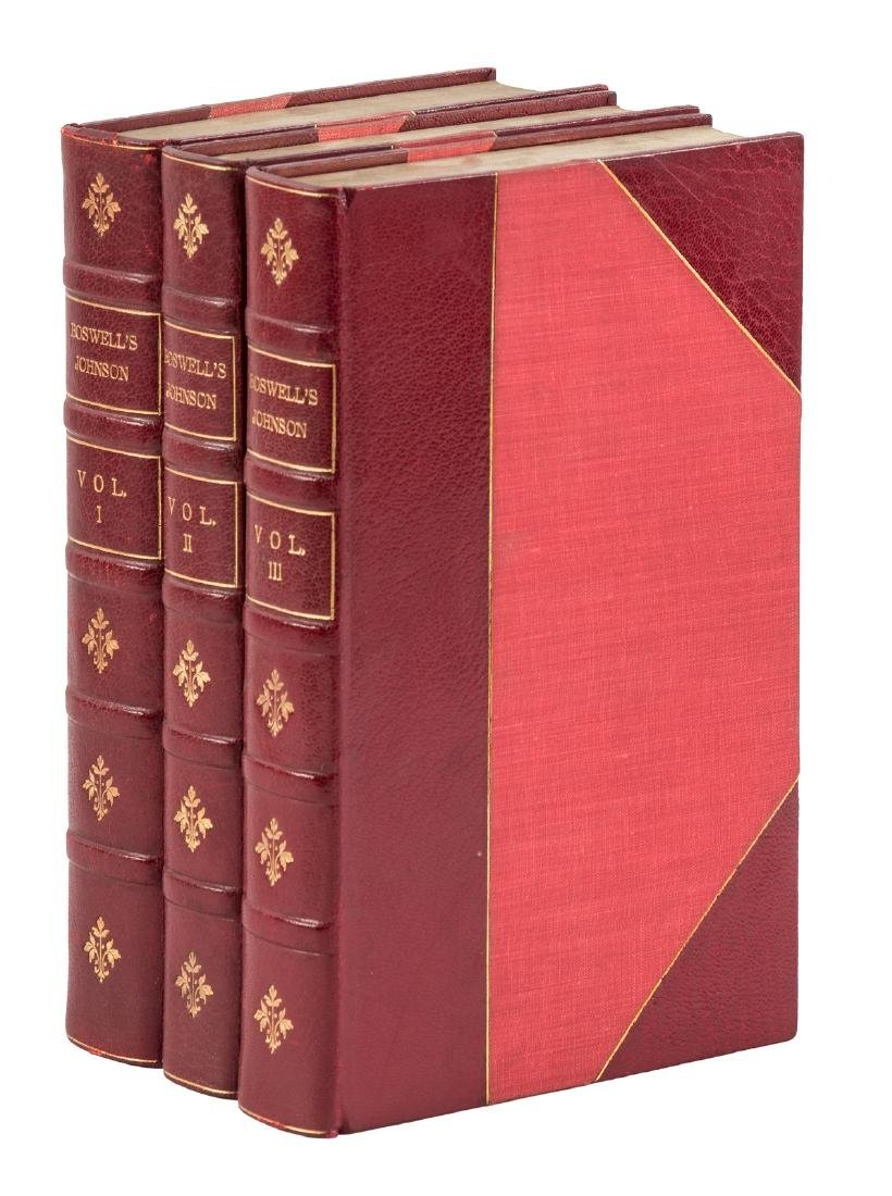 Boswell's Life of Johnson, finely bound 1900