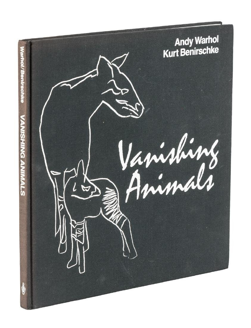 Full-page sketch by Andy Warhol in Vanishing Animals