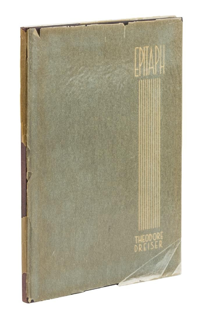 Theodore Dreiser Epitaph Limited Edition signed