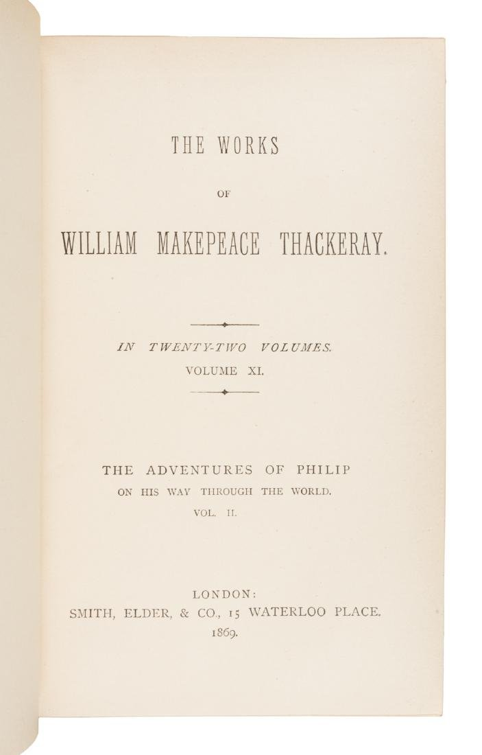 Works of William Makepeace Thackeray 19 volumes 1869 - 2