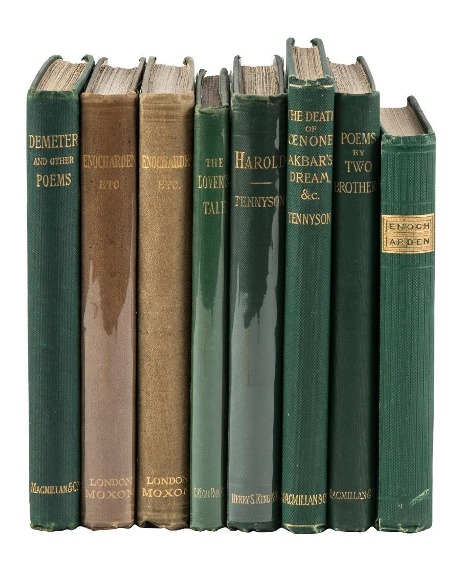 Eight volumes by Lord Alfred Tennyson