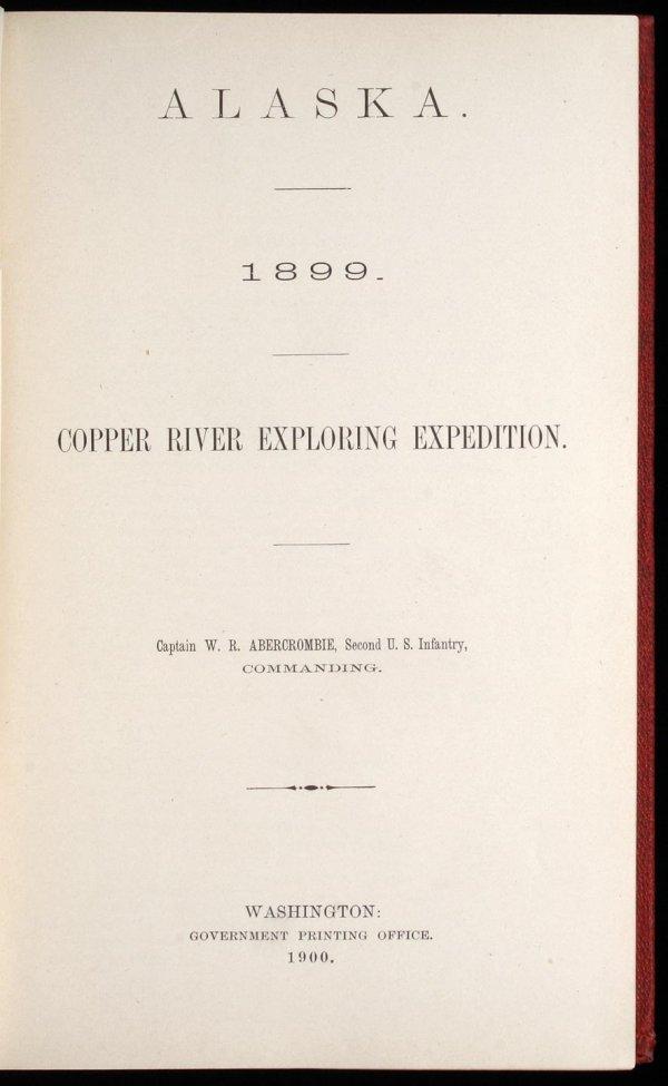 1001: Alaska 1899: Copper River Exploring Expedition