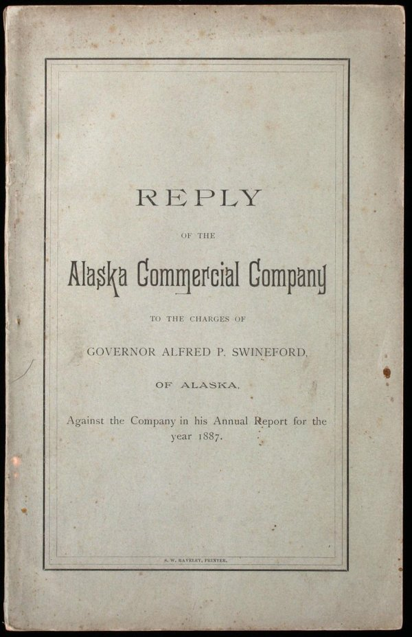 1009: Reply of the Alaska Commercial Company to the Cha