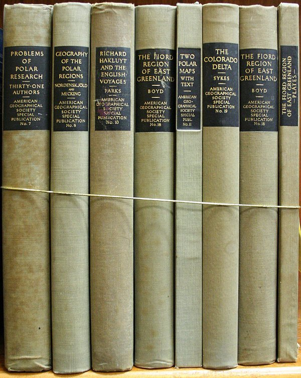 1016: Lot of 7 titles from the American Geographical So