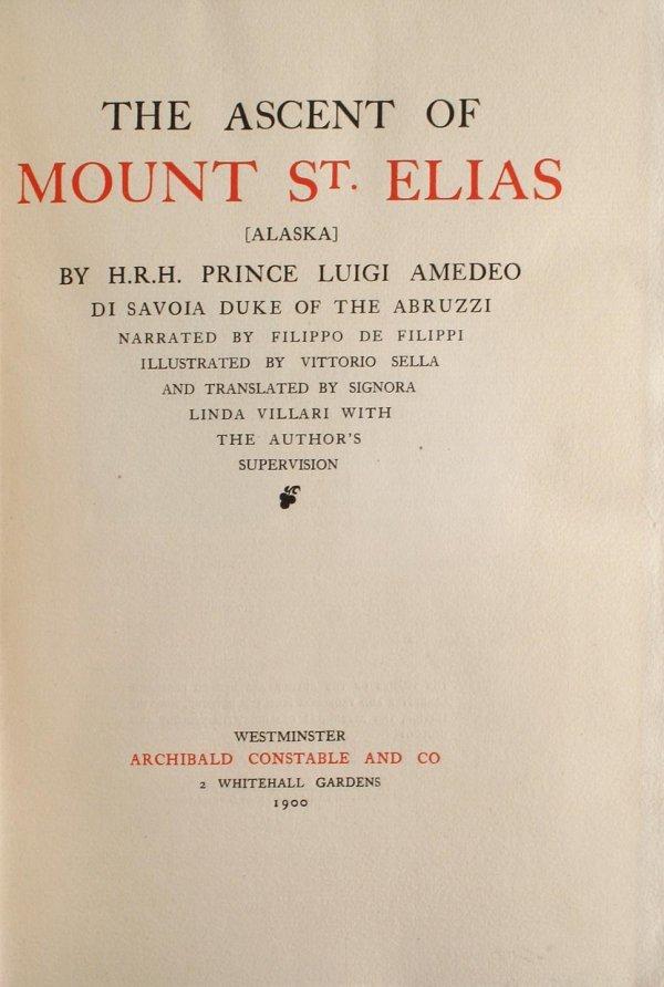 1054: The Ascent of Mount St. Elias [Alaska] by H.R.H.