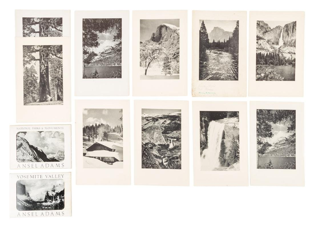 Ansel Adams Yosemite menus and post cards
