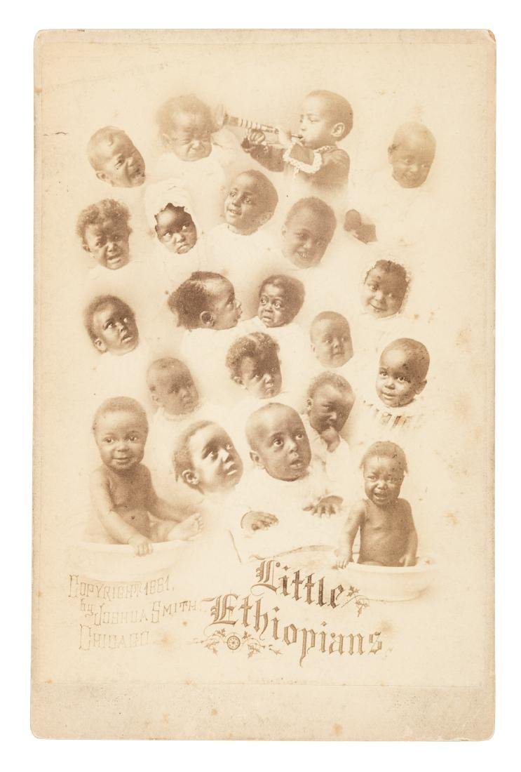 Cabinet card of African-American babies