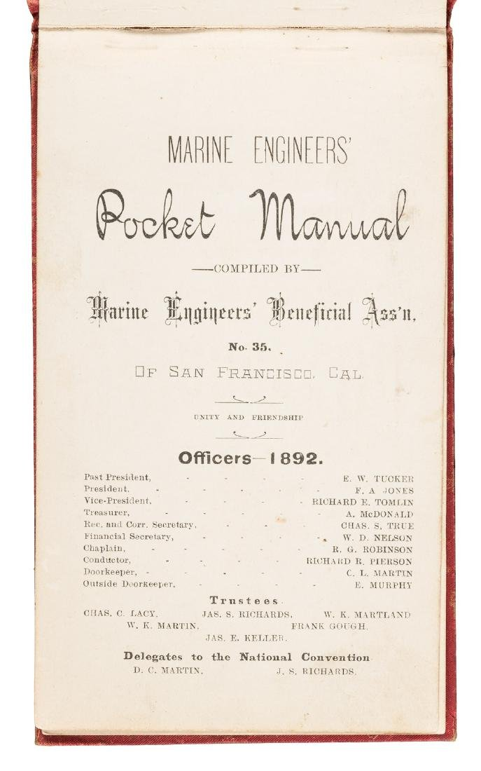 SF Marine Engineers Souvenir Manual