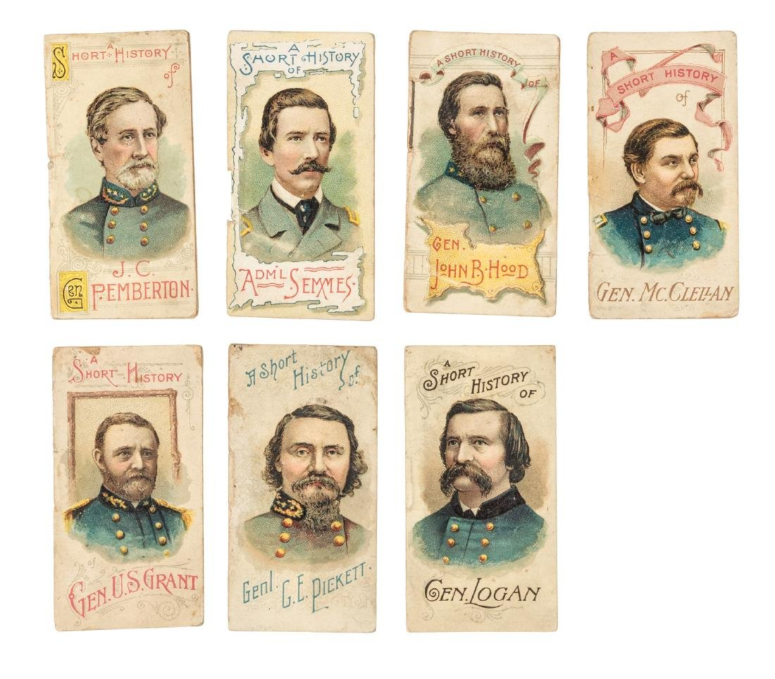 Seven Duke Cigarette Civil War Biographies