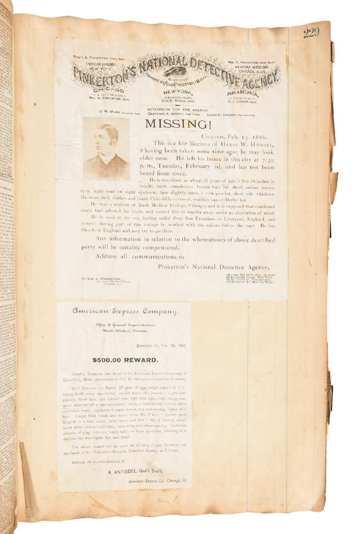 Archive of crime related newspaper clippings from 19th
