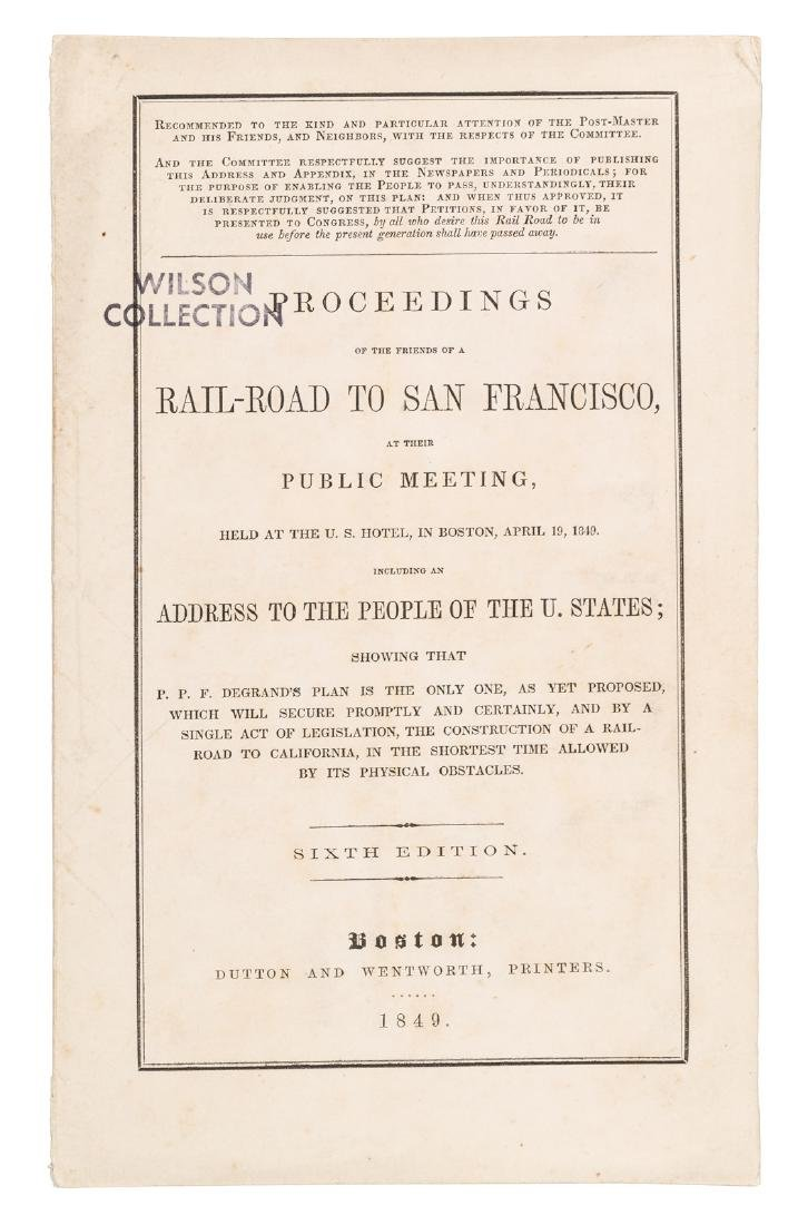 Pacific Railroad proposal SF 1849