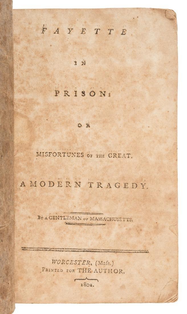 La Fayette in Prison rare American play