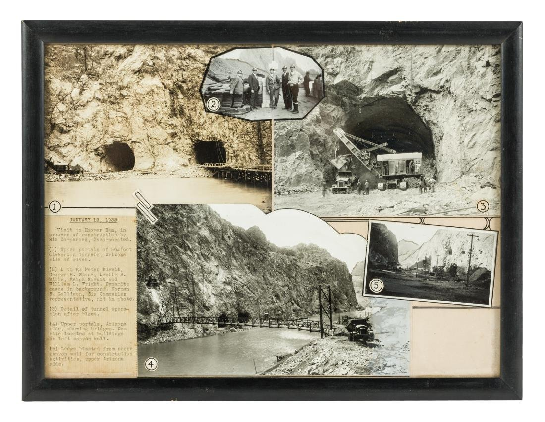 Photo-montage of Hoover Dam construction