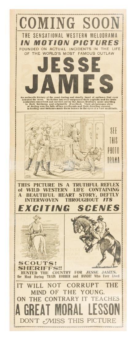 Rare poster for Jesse James movie