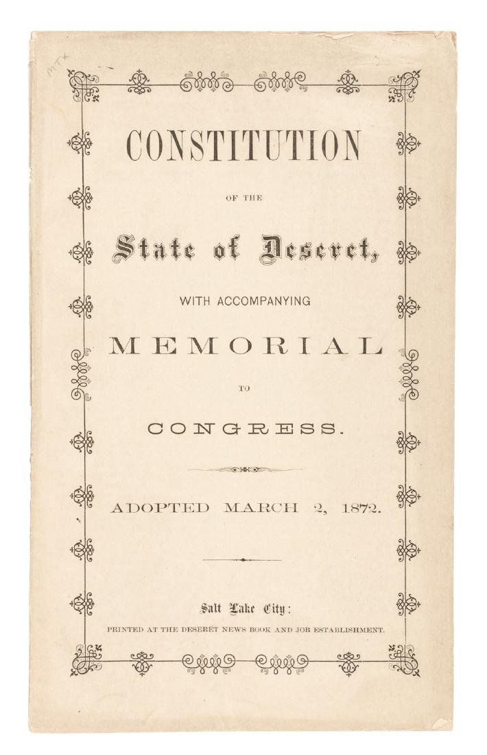 Constitution of the State of Deseret 1872