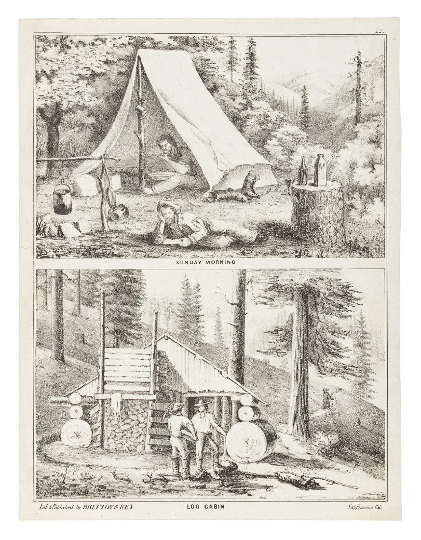 Sunday Morning / Log Cabin Pictorial Letter Sheet