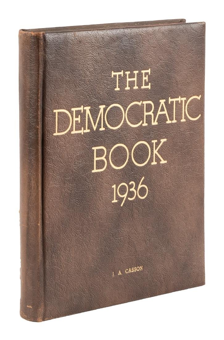 The Democratic Book - signed by FDR