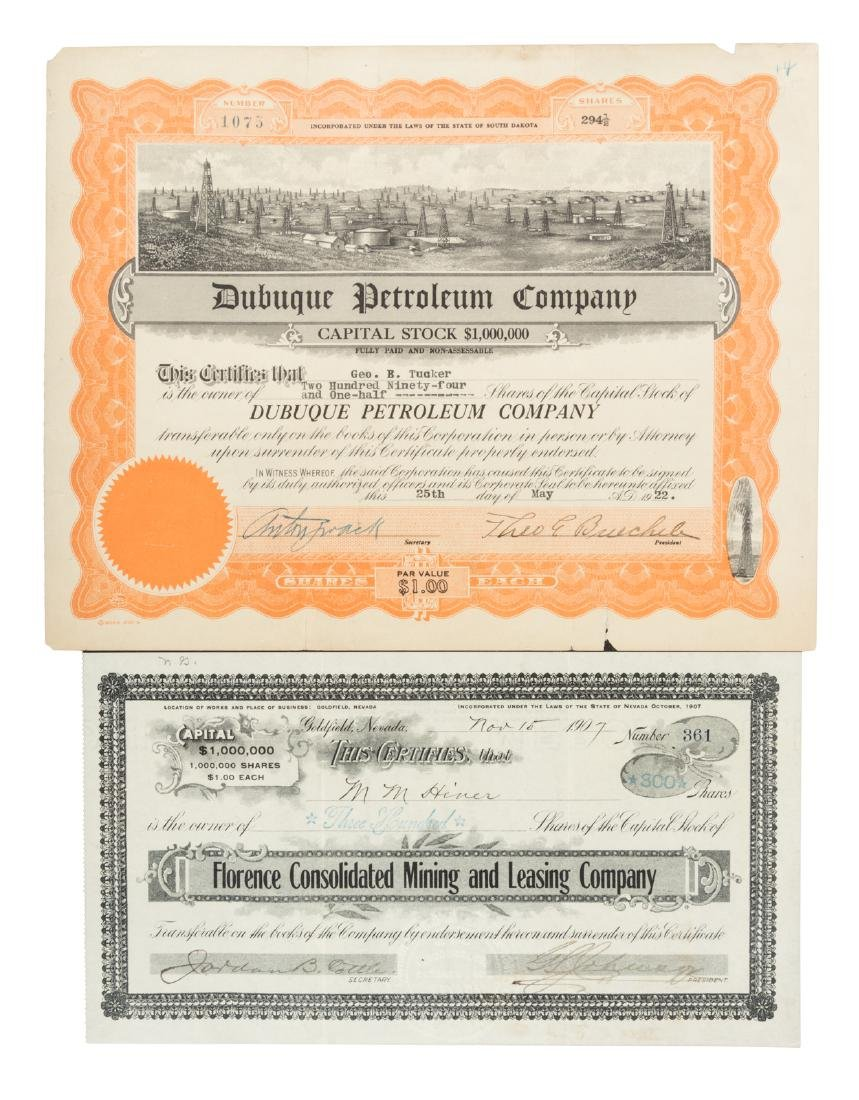 Collection of 70 Oil & Mining Stock Certificates