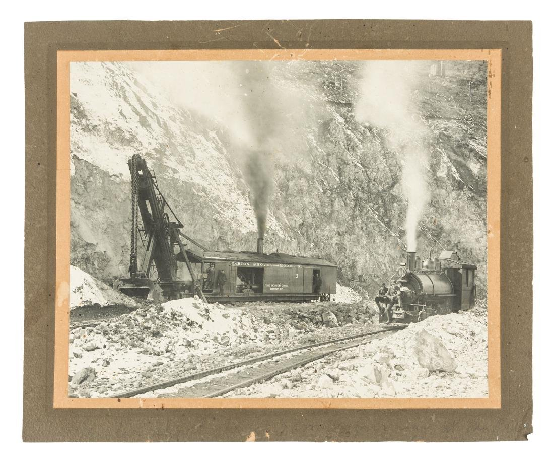 Open pit steam shovel Utah 1906