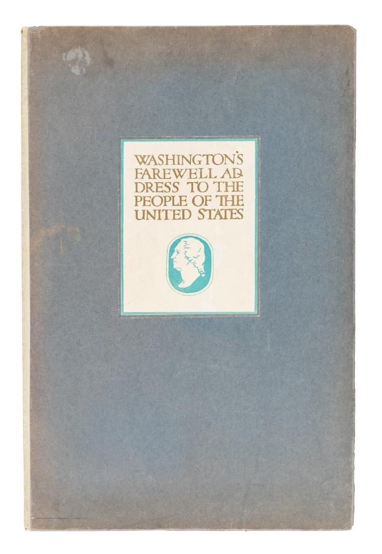 Washington's Farewell Address 1 of 50 on vellum