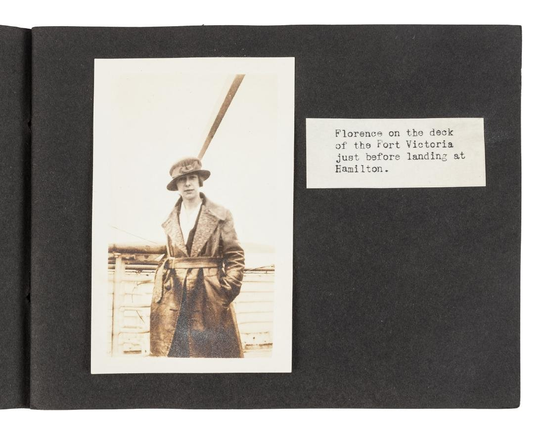 Photo record of woman's tour of Bermuda 1918