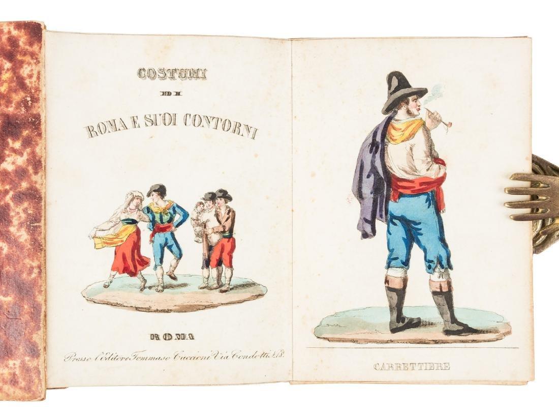 Scarce volume of Italian Costume plates