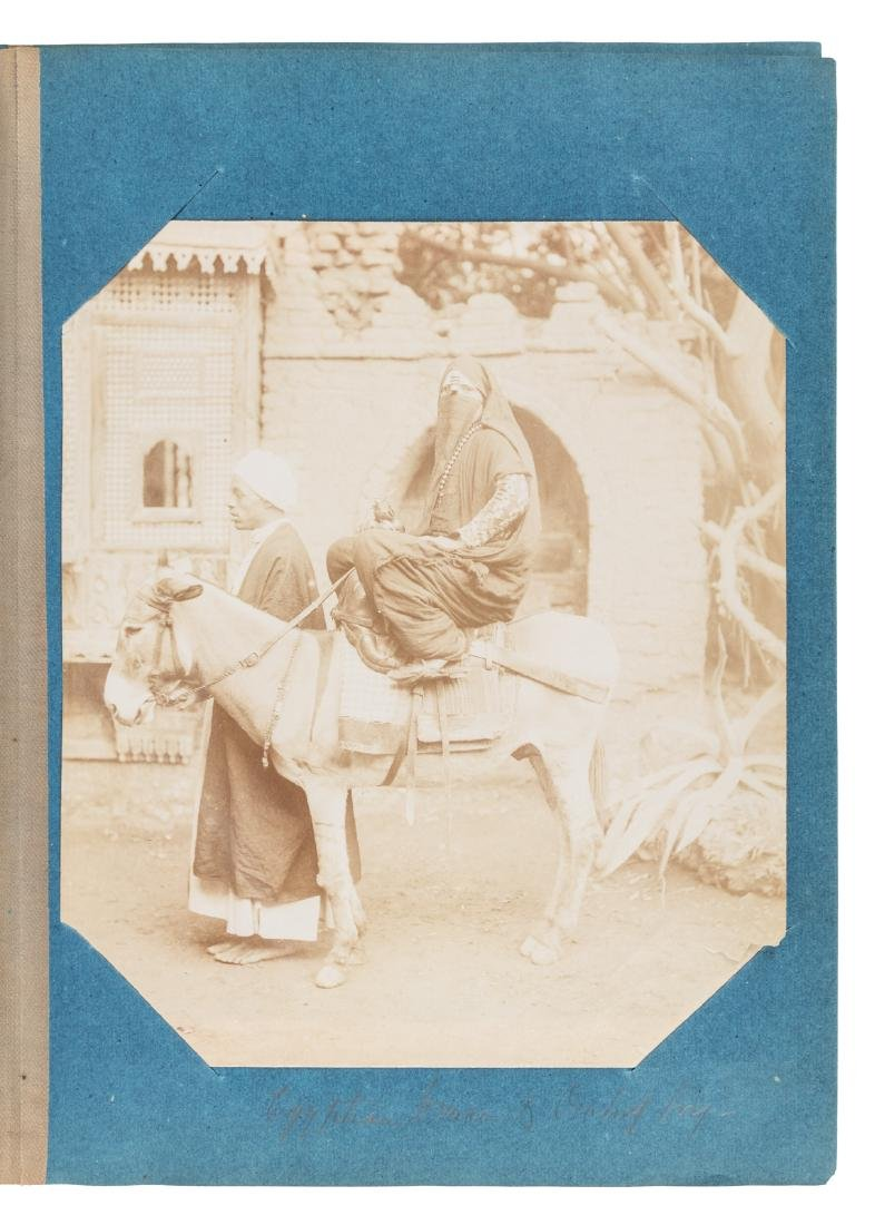 Superb album of albumen photographs of Egypt