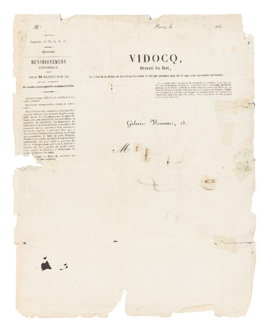 Vidocq, world's 1st private detective, posted