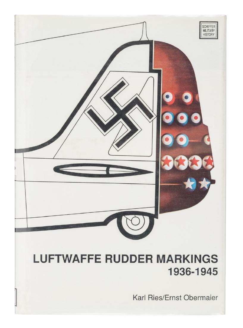 Luftwaffe Rudder Markings signed by 7 pilots