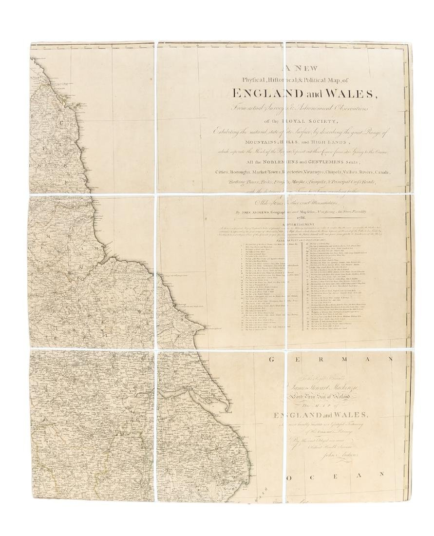 Large map of England & Wales 1786