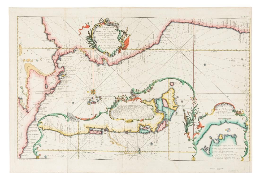Bellin map of the west coast of South America 1771