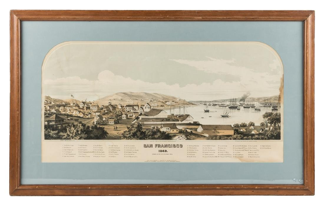 Bird's-eye view of gold rush San Francisco