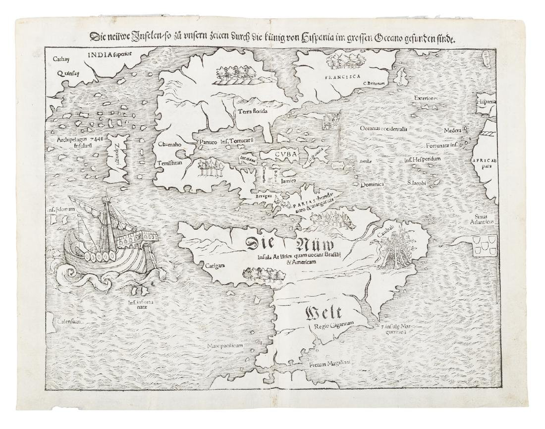 Münster map of Americas 1545