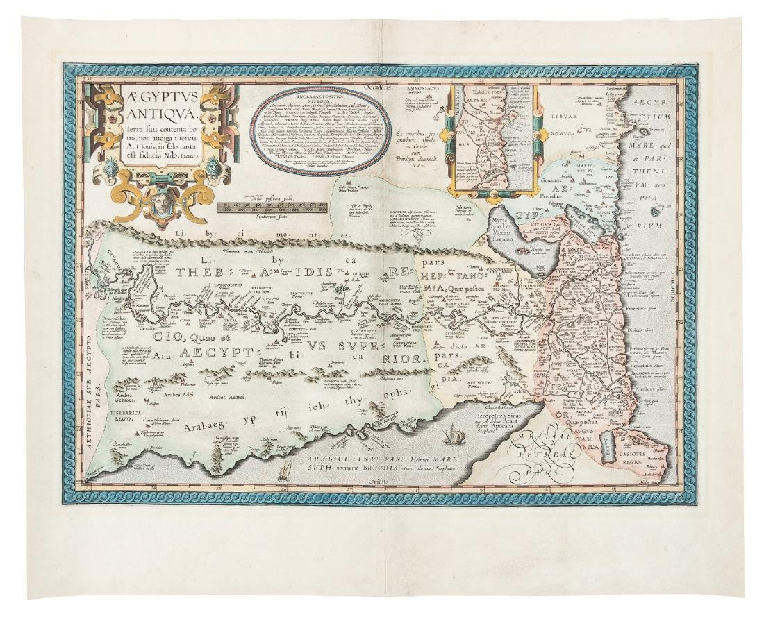 Ortelius map of Egypt, c.1595