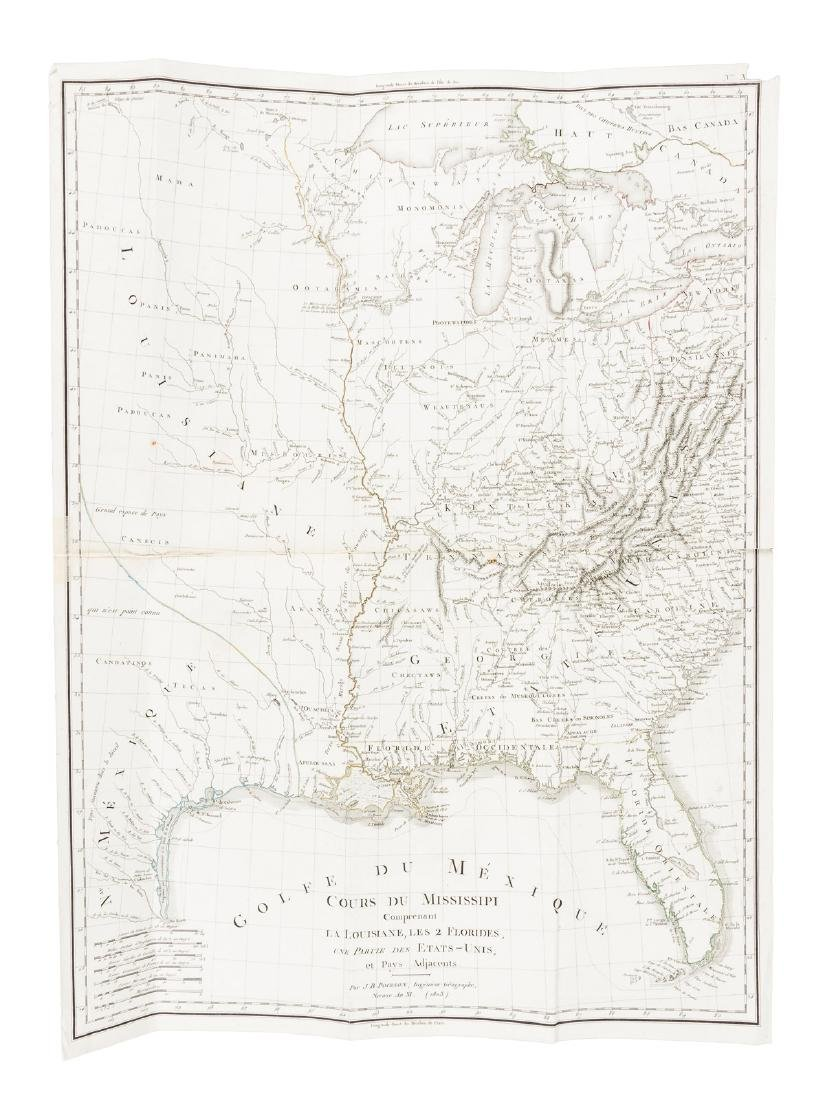 Scarce French map of Mississippi basin 1803