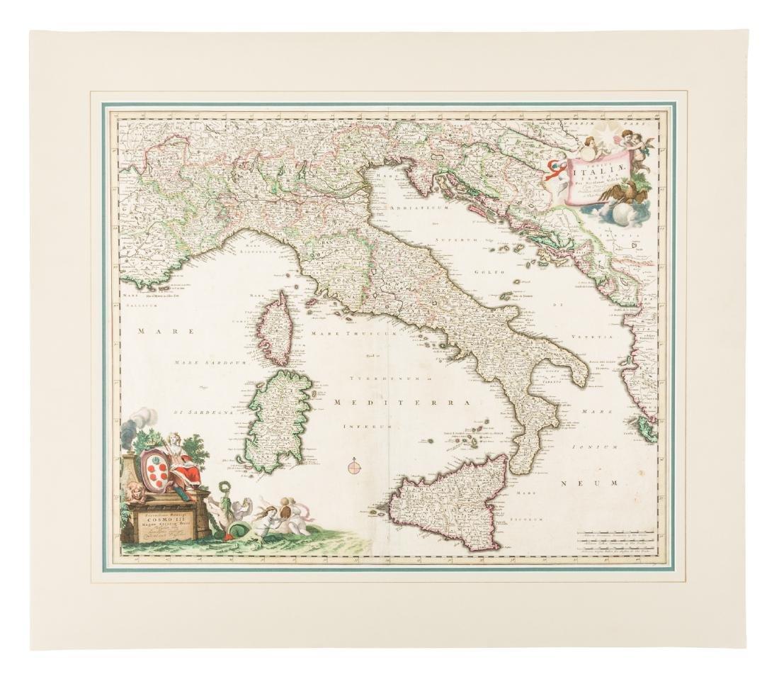 Map of Italy by Nicolas Visscher, c.1680